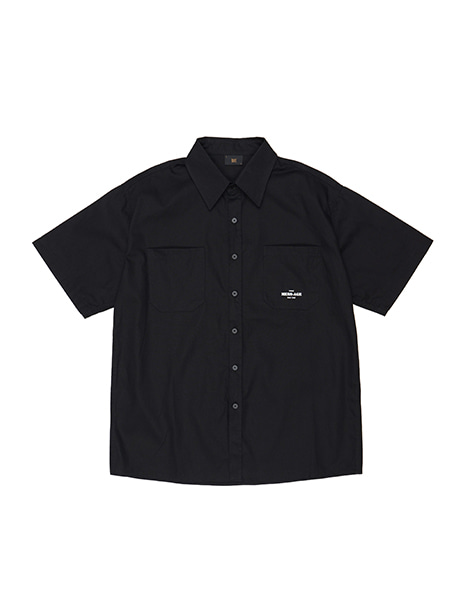 MESS AGE HALF SHIRTS - BLACK brownbreath
