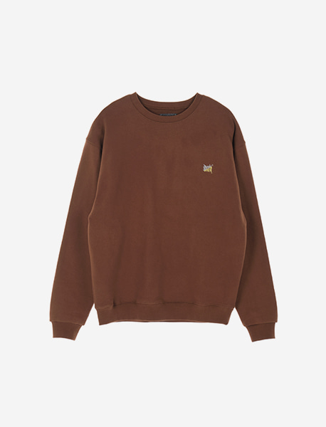 TAG CREWNECK - BROWN brownbreath