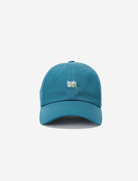 TAGGING BALL CAP - BLUEGREEN brownbreath