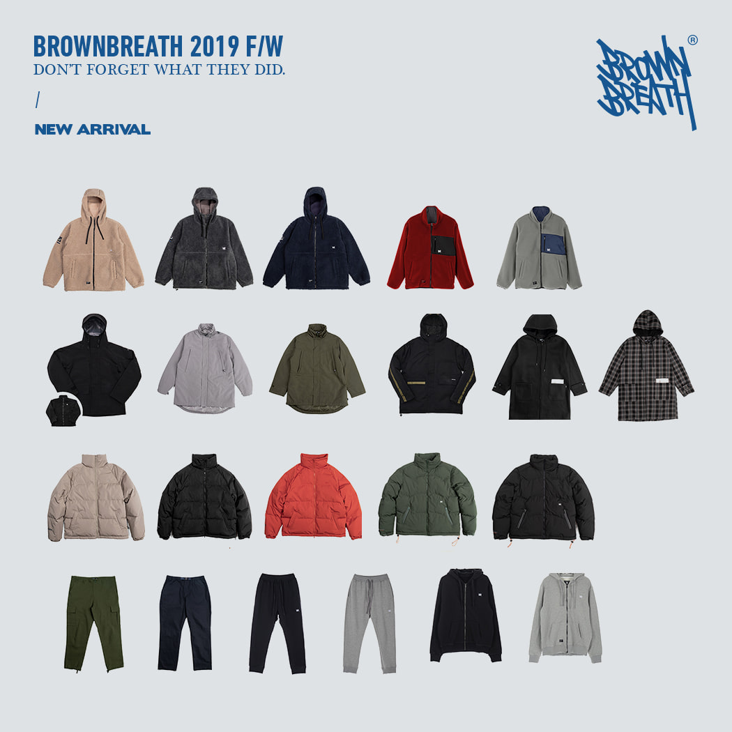 BROWNBREATH 19 FW 5,6차 발매 brownbreath