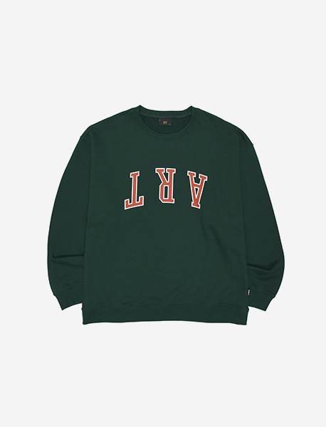 ART CREWNECK - GREEN brownbreath