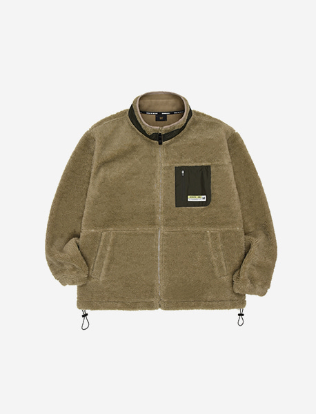 TAG BOA FLEECE JACKET - BEIGE brownbreath