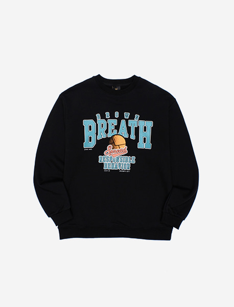 BREATH CREWNECK - BLACK brownbreath