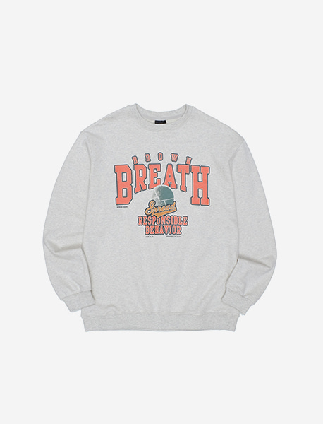 BREATH CREWNECK - OATMEAL brownbreath
