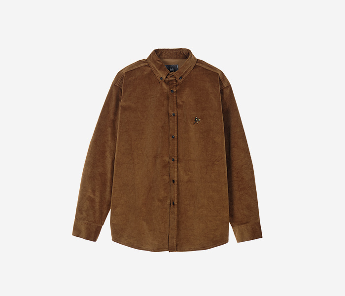 DEADMAN CORDUROY SHIRTS - BEIGE brownbreath