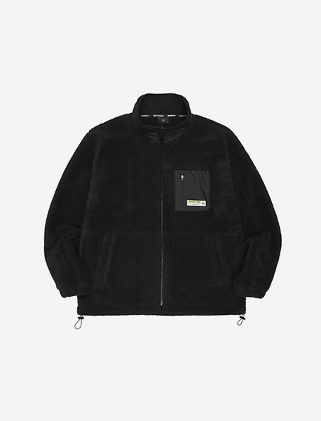 TAG BOA FLEECE JACKET - BLACK brownbreath
