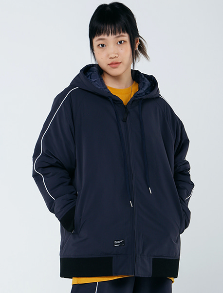 LAF HOOD JACKET - NAVY brownbreath